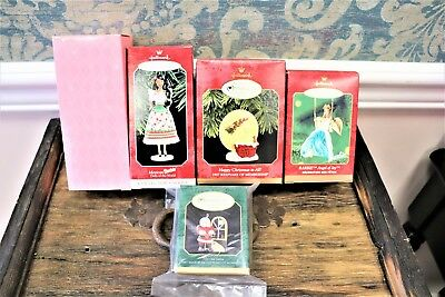Vintage Lot of 5 Christmas Ornaments: 4 Hallmark Keepsakes & 1 Avon- two Barbie