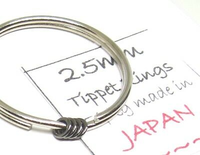 5) TIPPET RINGS size 2.5mm (orvis umpqua rio leader fly fishing) made in JAPAN