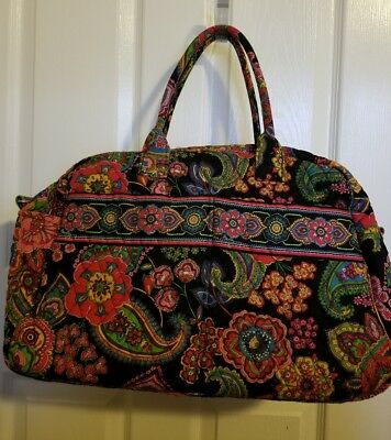 Vera Bradley SYMPHONY IN HUE Weekender Carry-on Overnight Travel Bag