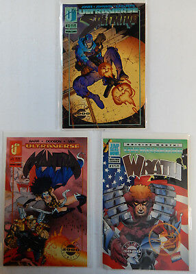 """Lot Of 3 ULTRAVERSE Solitaire-Mantra-Wrath Silver Foil """"Limited Edition 5000"""""""
