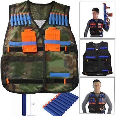 Tactical Vest Child Toys Gun Clip Jacket Foam Bullet Holder For Nerf N-strike