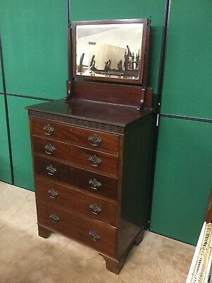 Antique mahogany Maple and co 5 drawer dressing chest