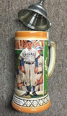 "1993 Budweiser STEIN ""THE DUGOUT"" Norman Rockwell 1948 POST COVER - CHICAGO CUBS"