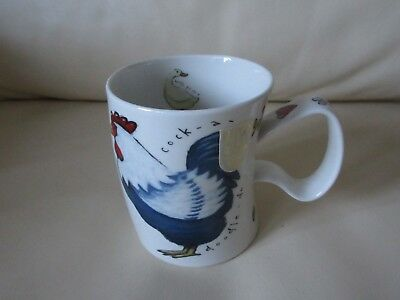 Dunoon Scottish Stoneware Chicken Cockerel Duck Wonky Mug With Label