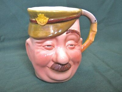 Rare Beswick Bruce Bairnsfather 'Old Bill' Toby Character Jug WW1 Army Soldier