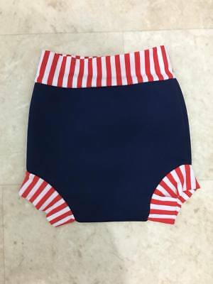 Splash About Happy Nappy Medium 3-6 Months Baby Girls Boys Reusable Navy Red BN