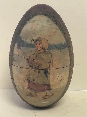 Antique 19th Century Russian Imperial Wooden Easter Egg