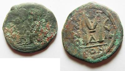 ZURQIEH -as2438- BYZANTINE. JUSTIN II & SOPHIA. AE FOLLIS. NEEDS CLEANED