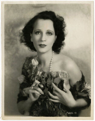 Art Deco Vamp Bebe Daniels Vintage c. Early 1930s Close Up Glamour Photograph