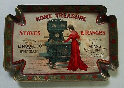 Home Treasure Stoves & Ranges Advertising Tip Tray Canada Great Graphic Nearmint