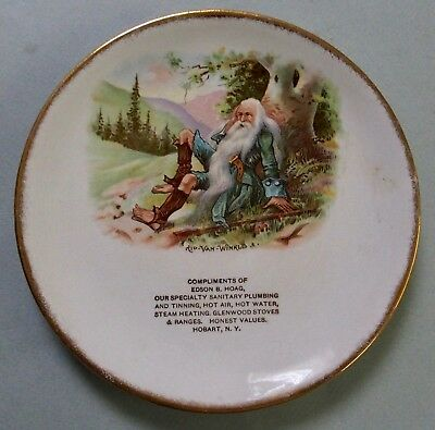 Rip Van Winkle Porcelain Advertising Tip Tray Beautiful Graphic & Color Mint