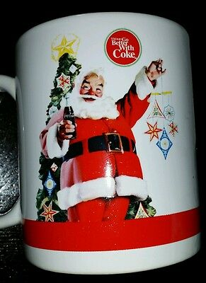 Coca Cola Co. Christmas Santa Mug Cup #4204 Things Go Better With Coke Vintage