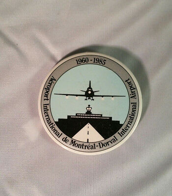 1985 Dorval Montreal Airport 25th Anniversary Button