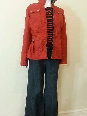 Womens Barbour International trials quilt jacket in Red Size12