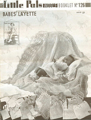 RARE VINTAGE  KNITTING PATTERN  COPY -  BABIES LAYETTE - 1920's