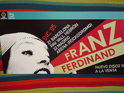 Franz Ferdinand Cardboard Promo Poster Concerts 2005 Not Available In Stores!