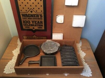 Wagner Cast Iron Miniatures Toy Set Vintage 1891 100 Year Anniversary NEW in Box
