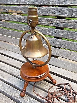 Vintage and very cool BELL lamp, pull chain thru the bell with ringer, A+ NICE!