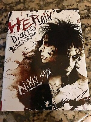 Nikki Sixx / Motley Crue Signed Autographed Copy Of The Heroin Diaries 2007