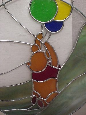 Winnie the Pooh Decor Hanging Wall Art Window Display Stained glass