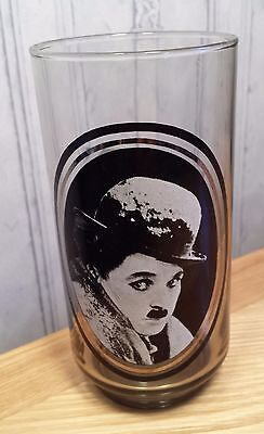 Vintage Arbys actors Collector series Drinking Glass Charlie Chaplin MAKE OFFER