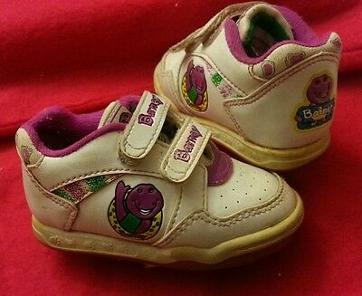 1993 Vintage Rare Toddler Unisex Barney the Dinosaur collectible Shoes Sneakers