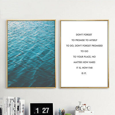 Ocean Sea Landscape Canvas Poster Motivational Nordic Wall Art Print Home Decor