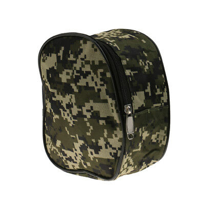 Camouflage Fishing Reel Case Protective Cover Canvas Storage Bag Pouch