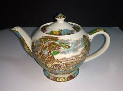 """Vintage Sadler """"The Old Mill"""" 4 Cup Teapot Made in England ***LID HAS REPAIR**"""
