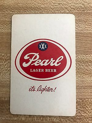 Pearl Lager Beer Playing Card Ace Of Diamonds