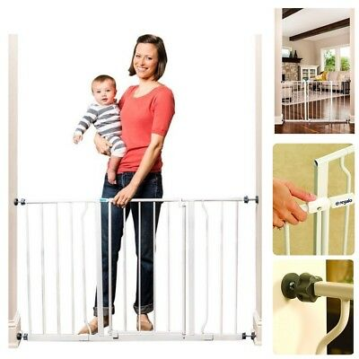 Extra wide baby gate pet dog playpen infant kid cat fence safety door fit stair