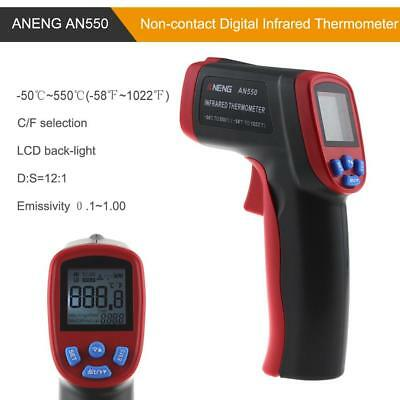 AN550 Digital Infrarot Thermometer Laser Pyrometer -50 ~ 550℃ IR Distanz 12:1
