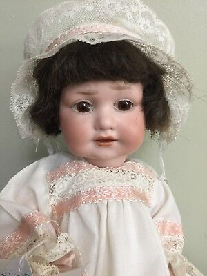 Antique Character Bisque Baby Doll By George Borgfeldt  13""