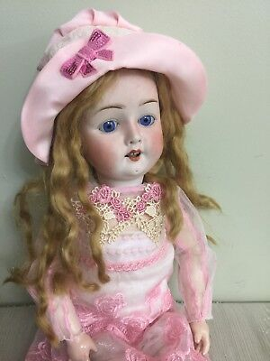 Antique Bisque Doll By Gans & Seyforth On A Comp Body 21""