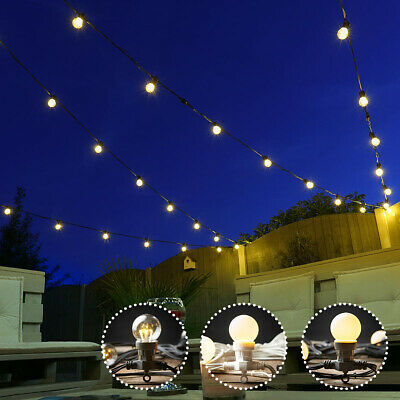 ConnectPro 5-100m Connectable Outdoor Festoon LED Lights | Globe Bulb Garden