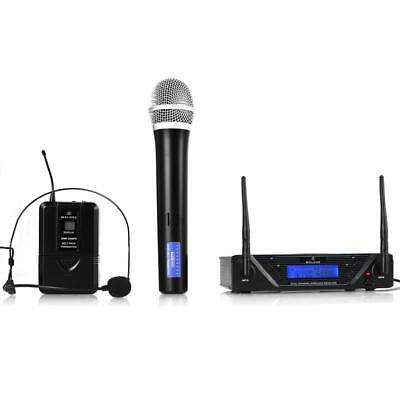 Uhf Wireless Microphone Handheld Mic Hands Free Headset *free P&p Special Offer