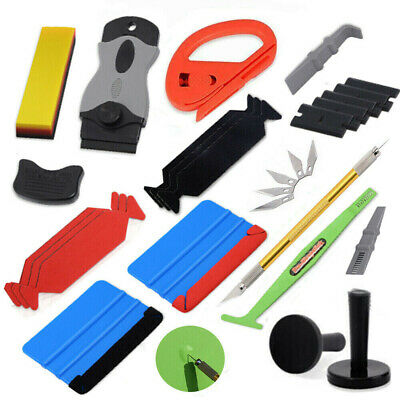 Car Wrapping Application Tools Kit Vinyl Squeegee Cutter Magnets Set Window Tint