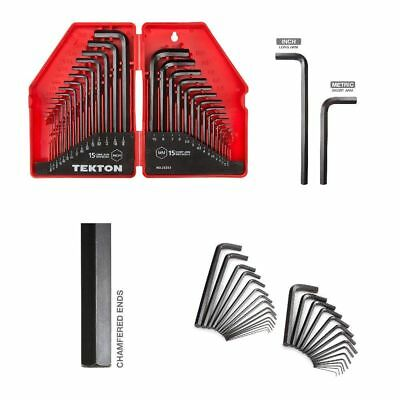 TEKTON Tool Repair Hex Key Allen Wrench Set 30 Piece Carbon Steel Black Oxide .