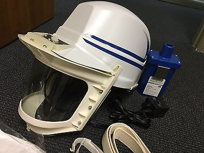 3M Airhat Ventilated Helmet / Respirator. Unused Nib.w/battery Pack And Charger.