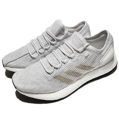 buy popular b475e 4b928 adidas PureBOOST White Grey Men Running Shoes Sneakers Trainers BB6277