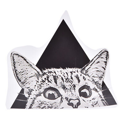 Triangle Cat Pattern Patch Ironing Stickers Heat Transfer Iron On Patches E&F