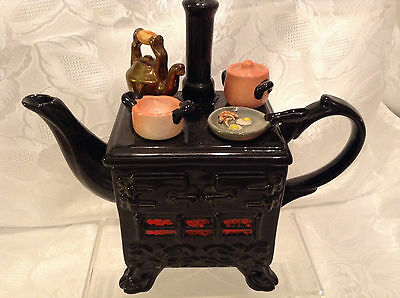 South West Ceramics Cardew Collectable Novelty Stove Teapot Great Condition 1989