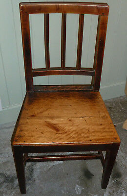 Pair Welsh Antique Georgian fruitwood country chairs c1800