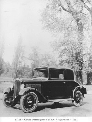 1931 Renault Primaquatre Coupe ORIGINAL Factory Photo oua2010