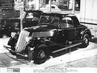1935 Renault Celtaquatre Coupe ORIGINAL Factory Photo oua2017