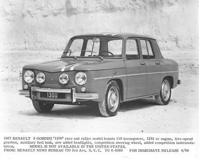 1967 Renault 8 Giordini 1300 ORIGINAL Factory Photo oua2039