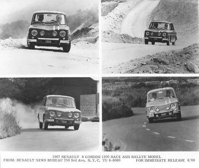 1967 Renault 8 Giordini 1300 Race & Rallye Model ORIGINAL Factory Photo oua2040