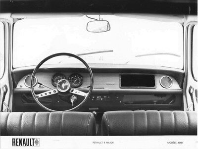 1968 Renault 8 Major Interior ORIGINAL Factory Photo oua2058