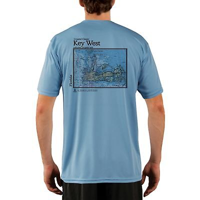 c7b6d6a98a1 Key West Nautical Chart Men s UPF 50+ UV Sun Protection Short Sleeve T-