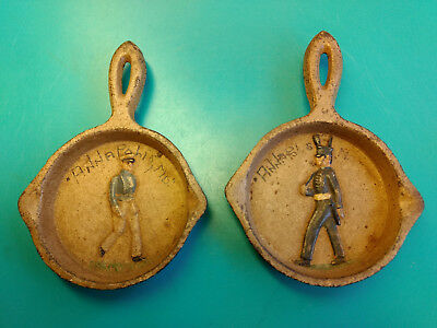 2 Decorative Collectible Mini Cast Iron Annapolis, MD Navel Academy Pans